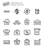 Sale Discount Vector Icon Set Stock Photo