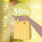 Sale discounts are fifty percent Stock Images