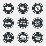 Sale discounts icon. Shopping, deal signs. Royalty Free Stock Photos
