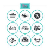 Sale discounts icon. Shopping, deal signs. Royalty Free Stock Photography