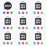 Sale discounts icons. Special offer signs Royalty Free Stock Photography