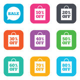 Sale discounts icons. Special offer signs Royalty Free Stock Images