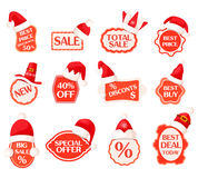 Sale and Discounts Labels with Percents Collection Royalty Free Stock Photography