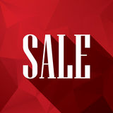 Sale discounts poster or flyer,  white text on red Stock Photos