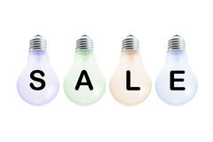 SALE Display Bulbs Royalty Free Stock Image