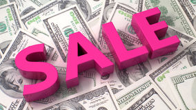 Sale on the dollar background Royalty Free Stock Image