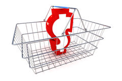 Sale Dollar Basket Illustration Royalty Free Stock Photography
