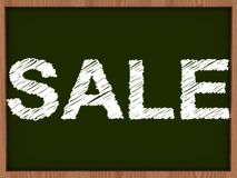 Sale drawing on blackboard Stock Images