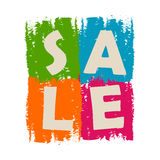 Sale drawn label Royalty Free Stock Image