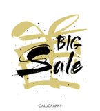 Sale. Drawn lettering. Sale  typography. Usable for cards and posters, sale banners, billboards Stock Photos