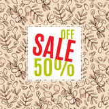 Sale of eco-style. Banner. Stock Image