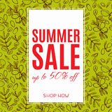 Sale of eco-style. Banner. Stock Photos