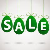 Sale eggs with ribbon Stock Images