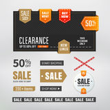 Sale elements Royalty Free Stock Photos