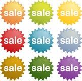 Sale emblem seal symbol. Sale marketing emblem seal illustration symbol many different colors Royalty Free Stock Photo