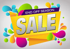 Sale End Off Season Banner. Summer Sale and Clearance Card. Royalty Free Stock Photos
