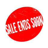 Sale Ends Soon rubber stamp Royalty Free Stock Photo