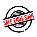 Sale Ends Soon rubber stamp Stock Photography