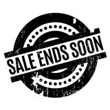 Sale Ends Soon rubber stamp Stock Photo