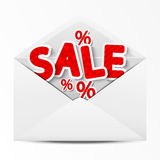 Sale envelope Stock Photo