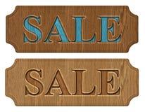 Sale etikett, etikett Arkivfoto