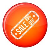 Sale etikett 30 procent av symbolen, lägenhetstil Royaltyfri Bild