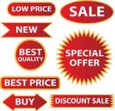 Sale etiketter Royaltyfri Foto