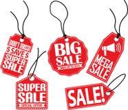 Sale etikettsuppsättning, vektorillustration Royaltyfria Bilder