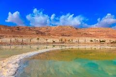 Sale evaporato dall'acqua Fotografia Stock