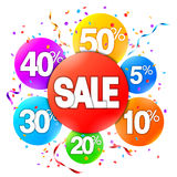 Sale Event Advertisment. Colorful sale event advertisment on white background Stock Image