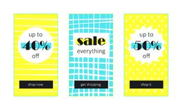 Sale everything Web Banners Set Royalty Free Stock Photos