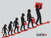 Sale. The evolution of sales. Vector format