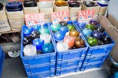Sale exponeringsglas shoppar in Arkivfoto
