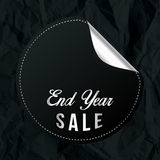 Sale för Chrome slutår baner med svart skrynkligt papper Royaltyfri Bild