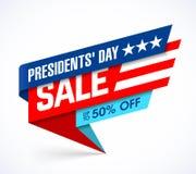 Sale för president`-dag baner stock illustrationer