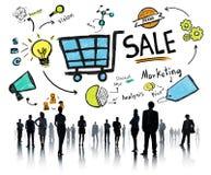 Sale försäljningar som säljer begrepp för betalning för inkomst för finansintäktpengar Arkivfoto