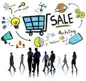 Sale försäljningar som säljer begrepp för betalning för inkomst för finansintäktpengar Royaltyfri Fotografi
