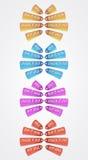 Sale fan color lables. Set of sale fan color lables sale fan color lables Royalty Free Stock Images