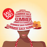 Sale and Fashion and summer Royalty Free Stock Photo