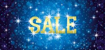 Sale festligt blått kort Fotografering för Bildbyråer