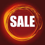 SALE. Fiery Circle. Royalty Free Stock Image