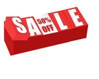 Sale and fifty percent off sign brick Stock Images