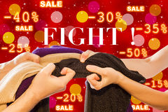 Sale Fight Royalty Free Stock Photography