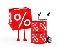 Sale figure hand truck Stock Image