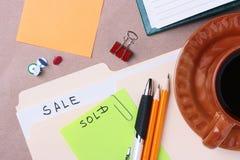 Sale files Stock Image