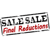 Sale final reductions. Rubber stamp with text sale final reductions inside, illustration royalty free illustration