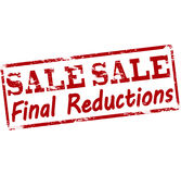 Sale final reductions. Rubber stamp with text sale final reductions inside, illustration stock illustration