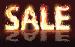 Sale from fire. Vector illustration Royalty Free Stock Photo