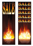 Sale fire banners. Fire sales banners vector illustration Stock Images