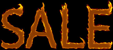 Sale_fire_text Royalty-vrije Stock Fotografie